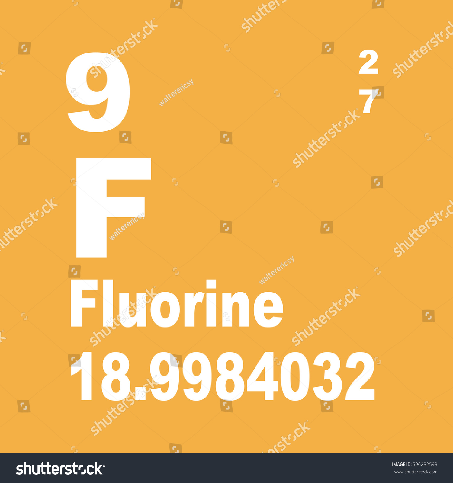 Fluorine periodic table elements stock illustration 596232593 fluorine periodic table of elements gamestrikefo Gallery