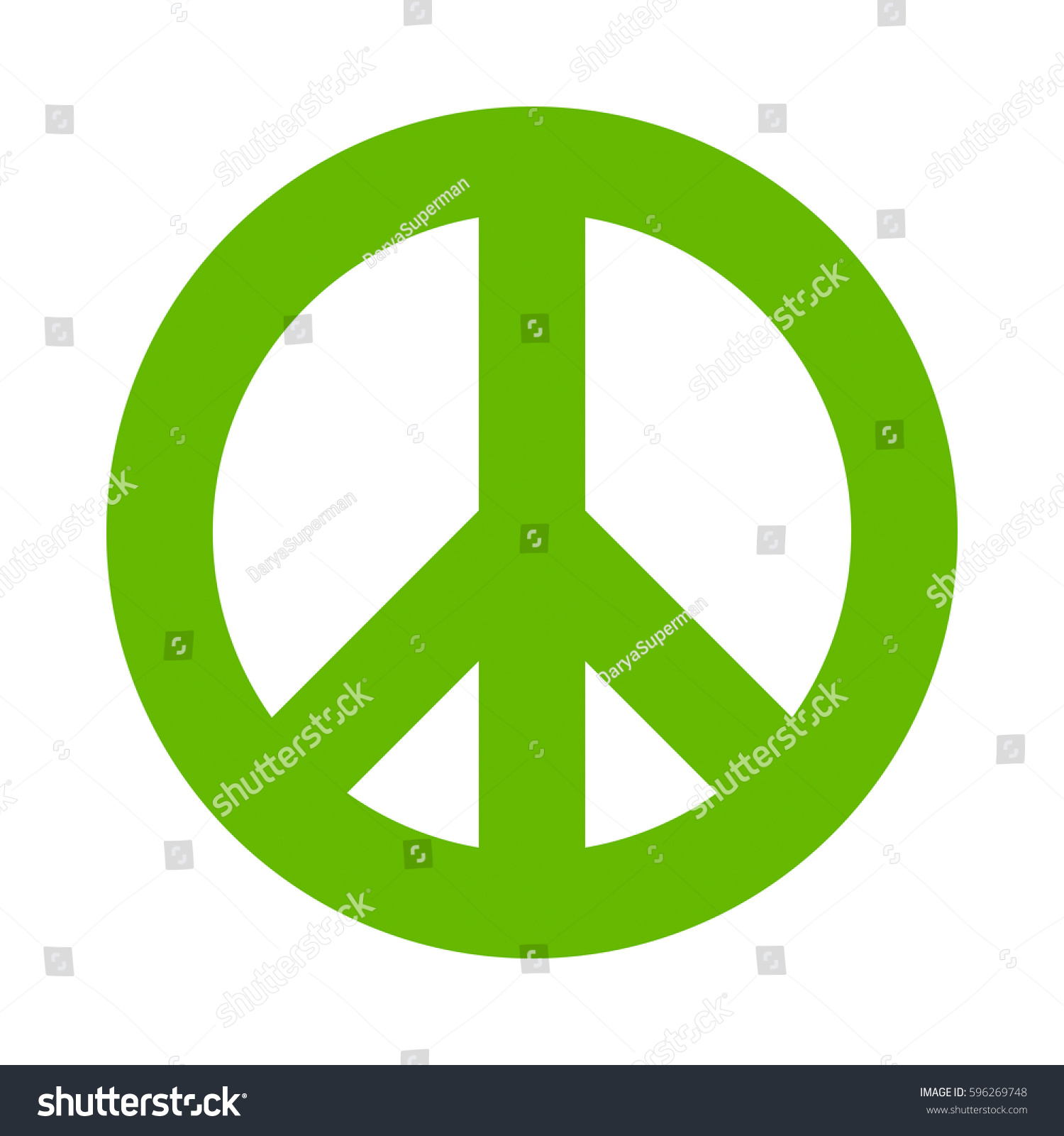 Symbol Peace Vector Icon Green Peace Stock Vector Royalty Free
