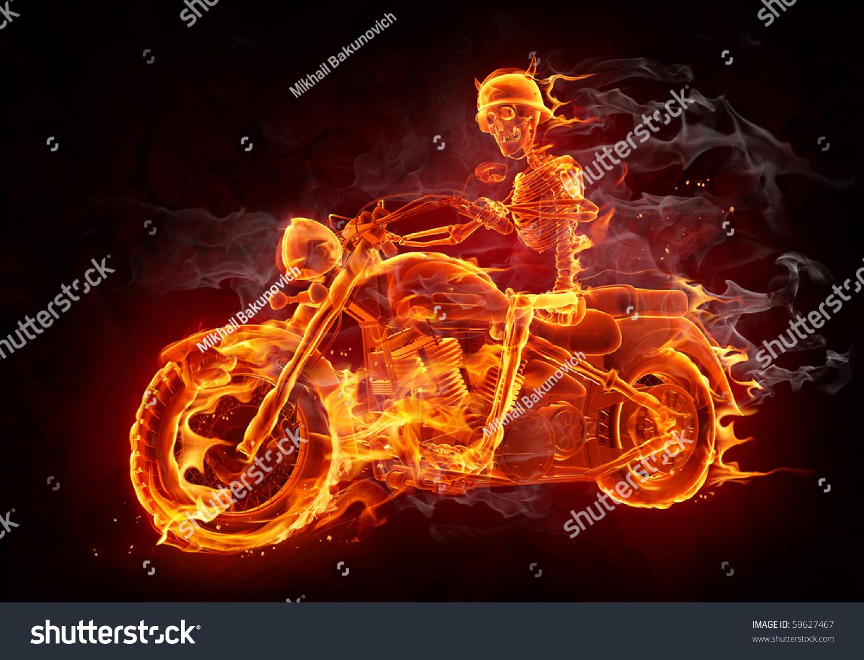 Download wallpaper the dark background, skeleton, bike, motorcycle ...