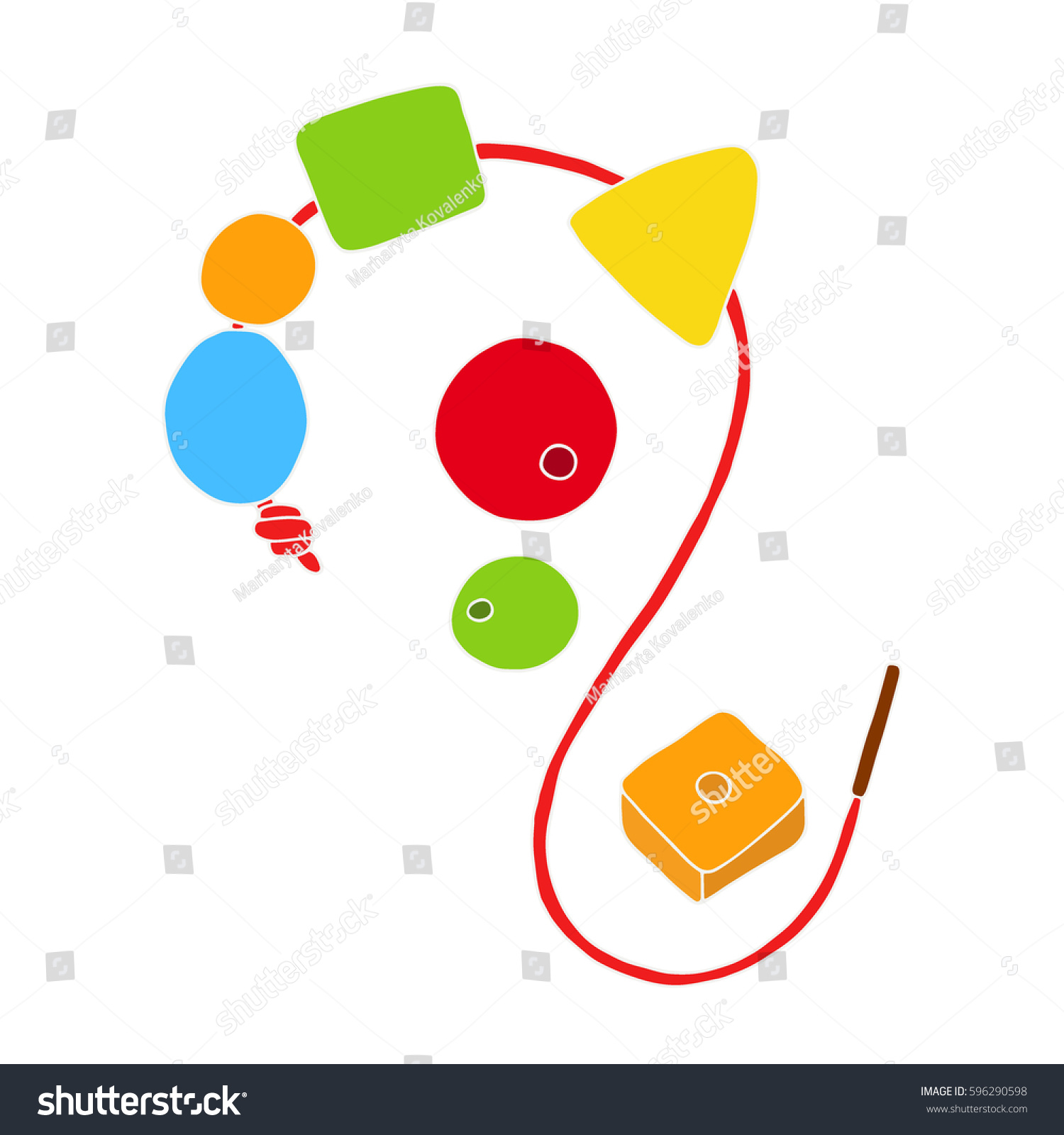 Early Childhood Development Concept Toy Baby Stock Vector