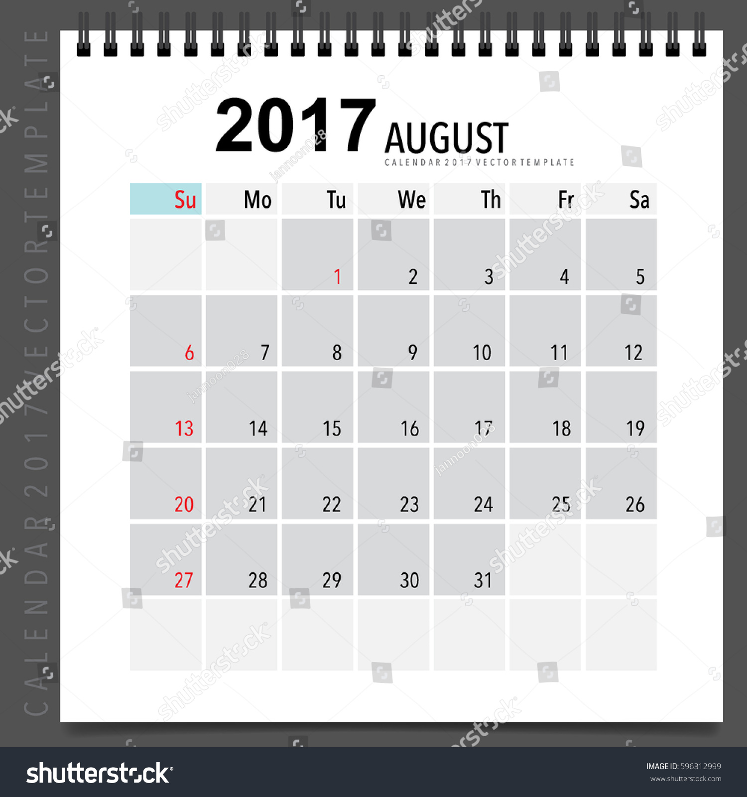 august calendar template
