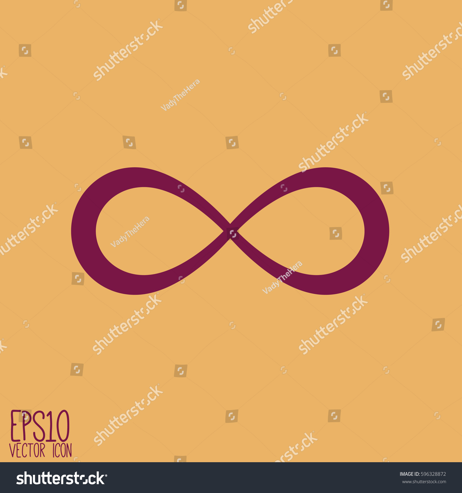 Infinity Sign Vector Illustration Flat Style Stock Vector Royalty