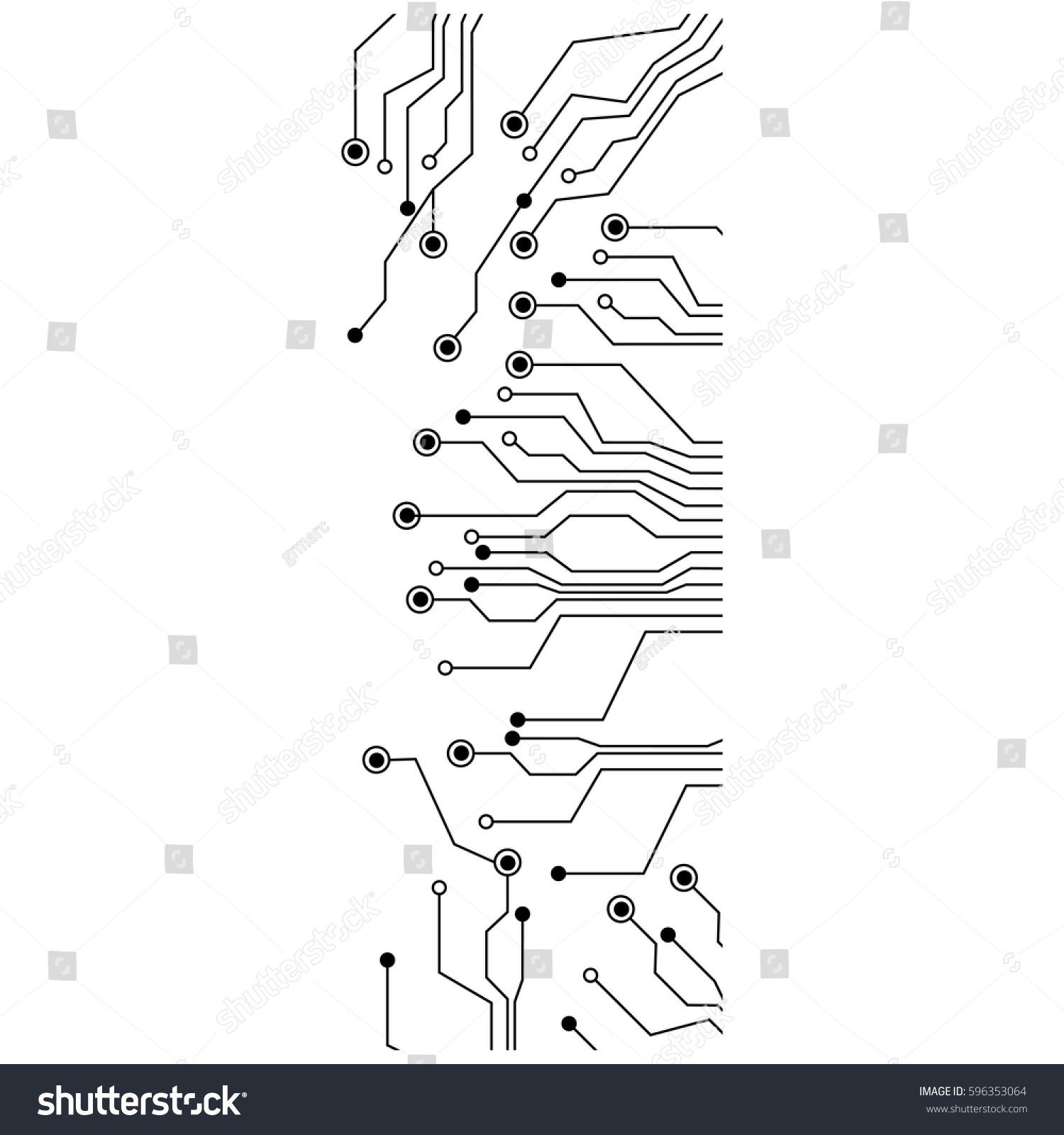 Figure Electrical Circuits Icon Vector Illustraction Stock Design Circuit