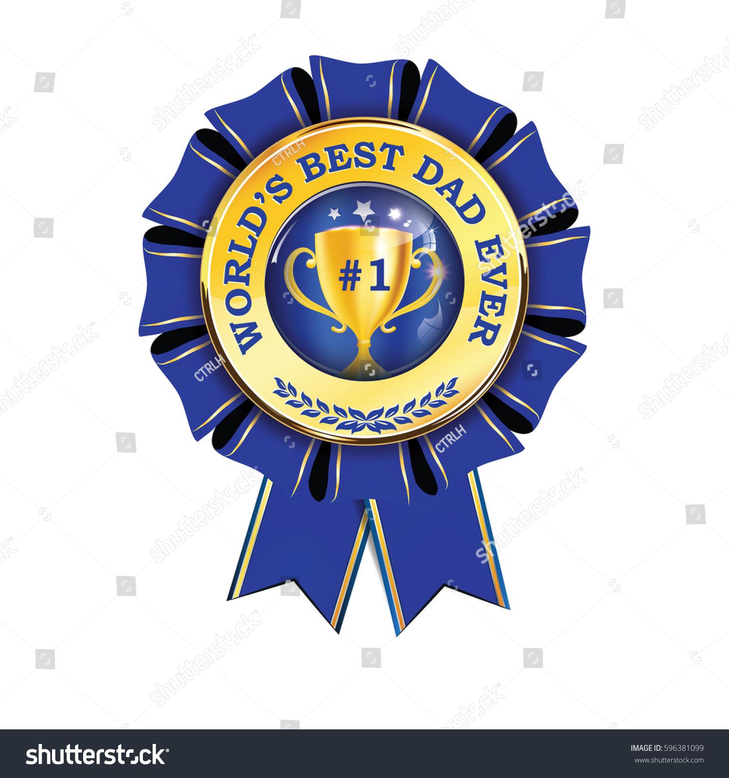 worlds best dad ever printable award vector de stock libre de