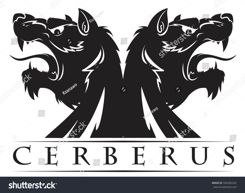 Design Sign Cerberus Vector Illustration Symbol Stock Vector