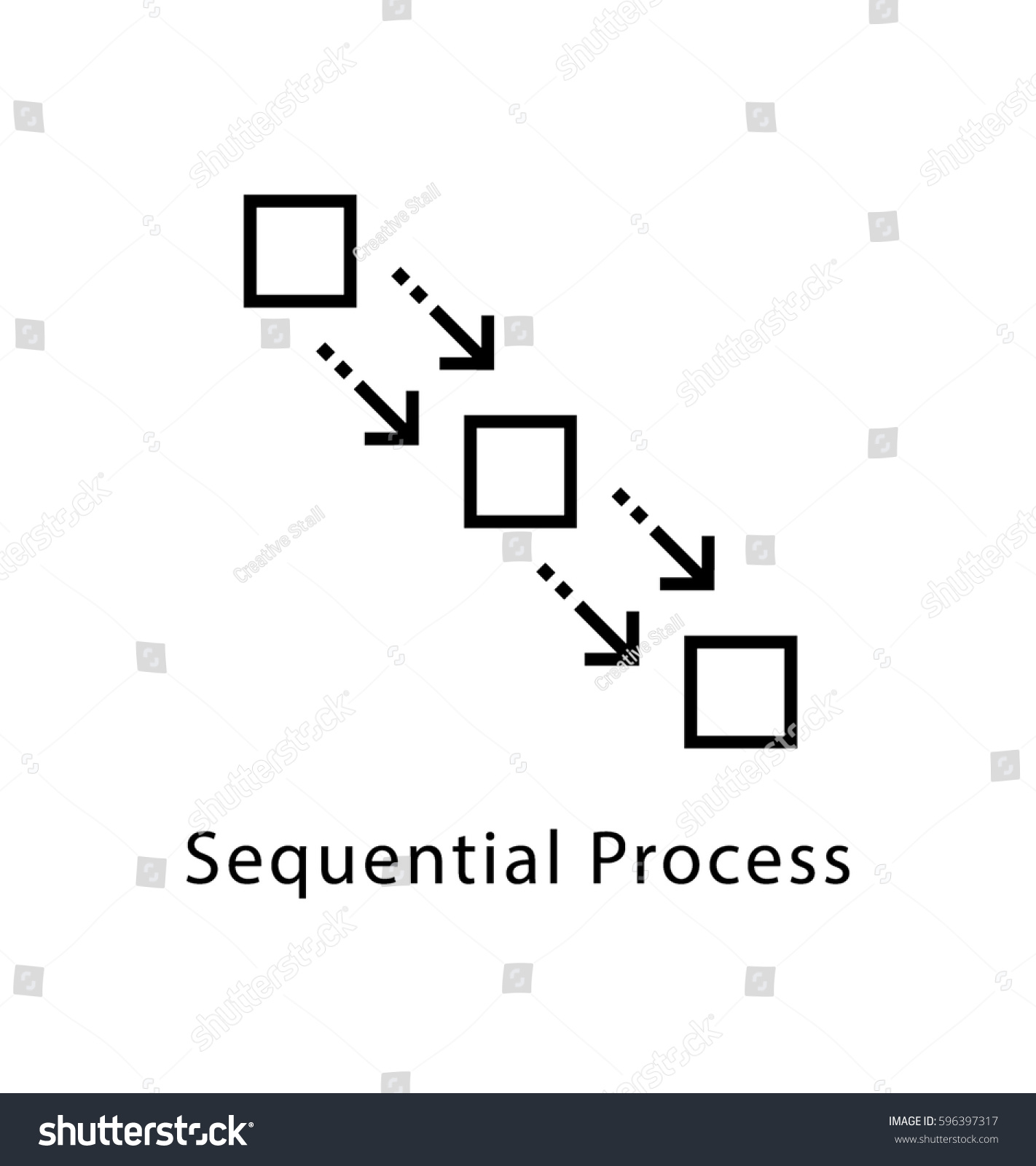 Sequential process vector line icon stock vector 596397317 sequential process vector line icon nvjuhfo Gallery