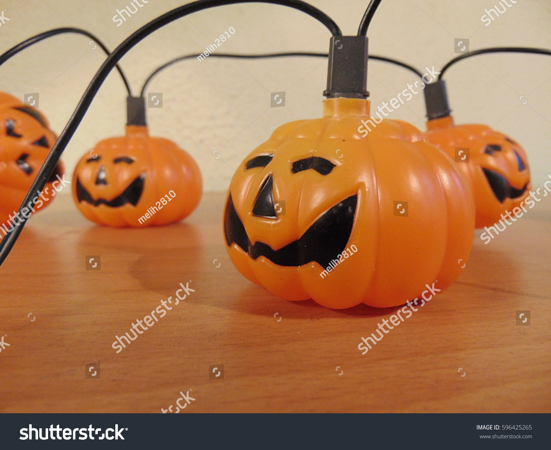 Halloween Pumpkin Garland Decoration Stock Photo Edit Now 596425265
