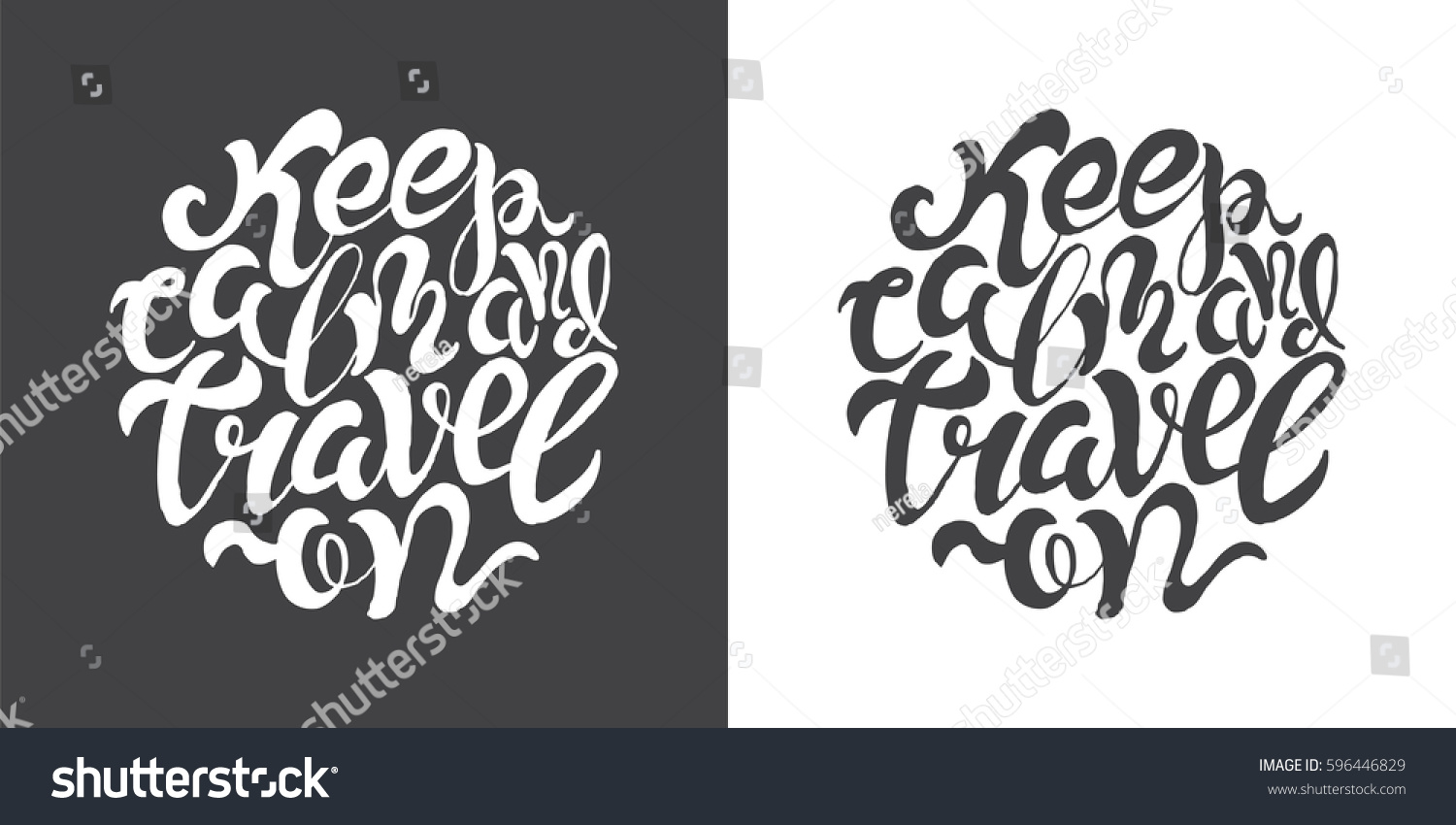 Hand Drawn Typography Posters Brush Lettering Stock Photo Photo
