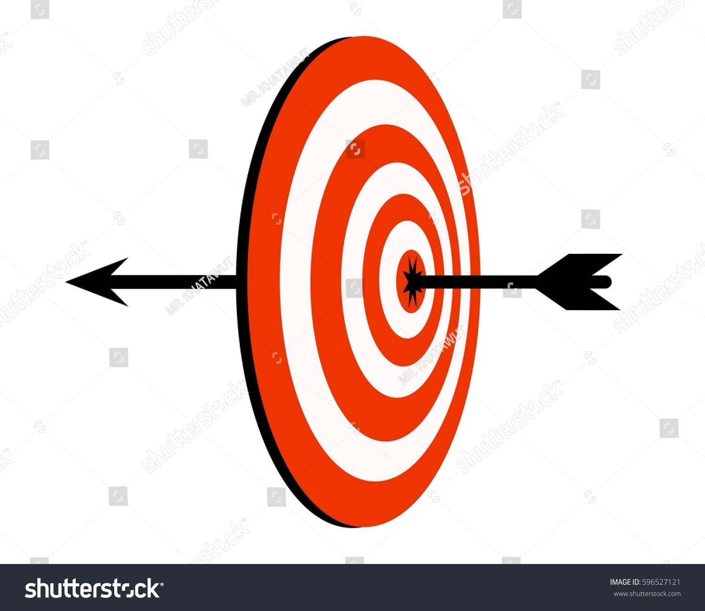 Target Arrow Icon Target Symbol Concept Stock Illustration 596527121