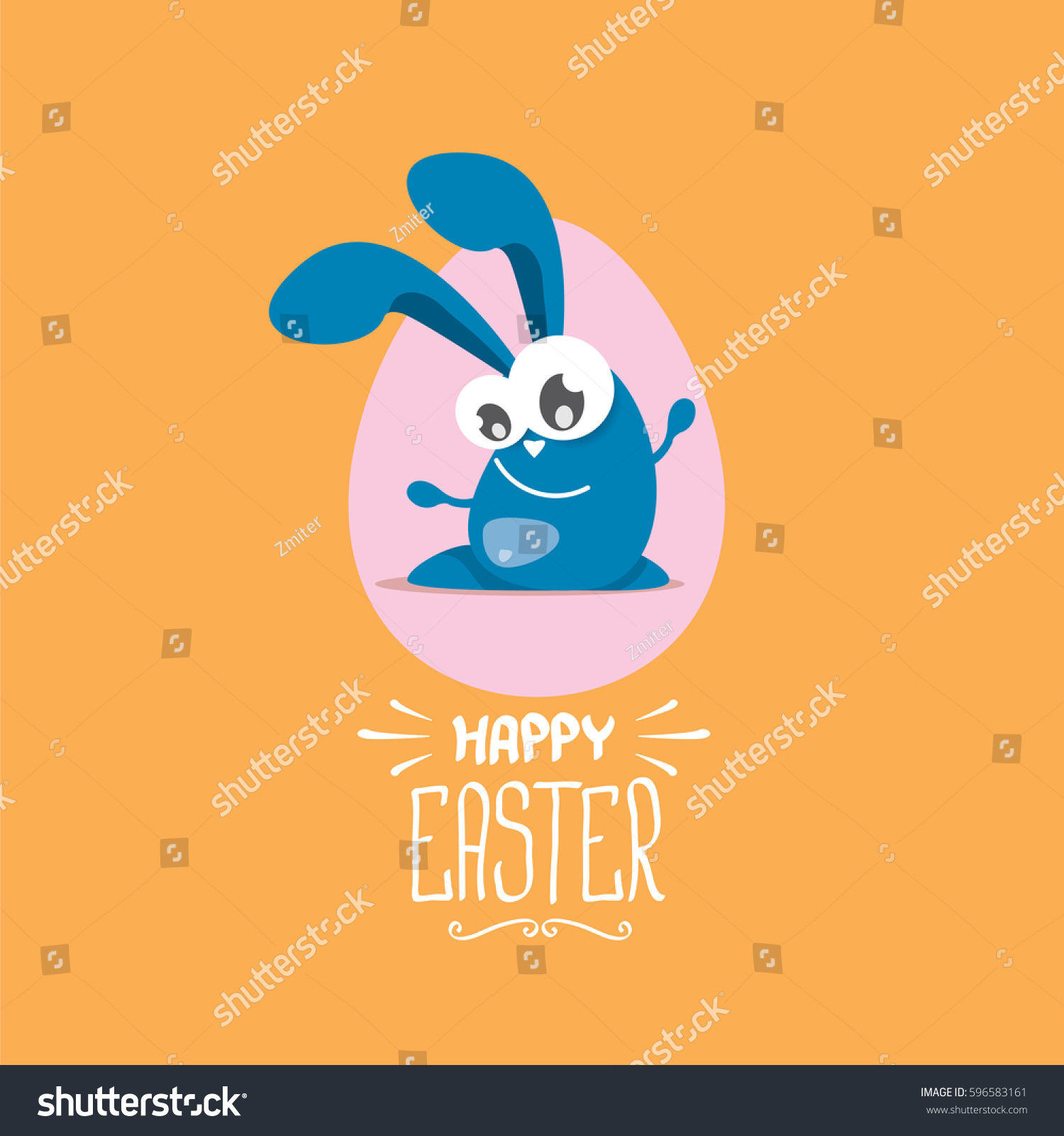 Vector Happy Easter Greeting Card Eggs Stock Vector ...