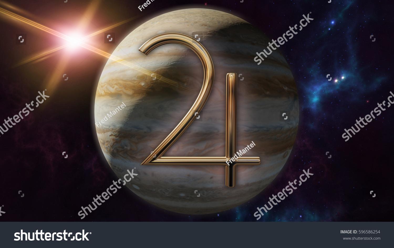 Jupiter Zodiac Horoscope Symbol Planet 3 D Stock Illustration