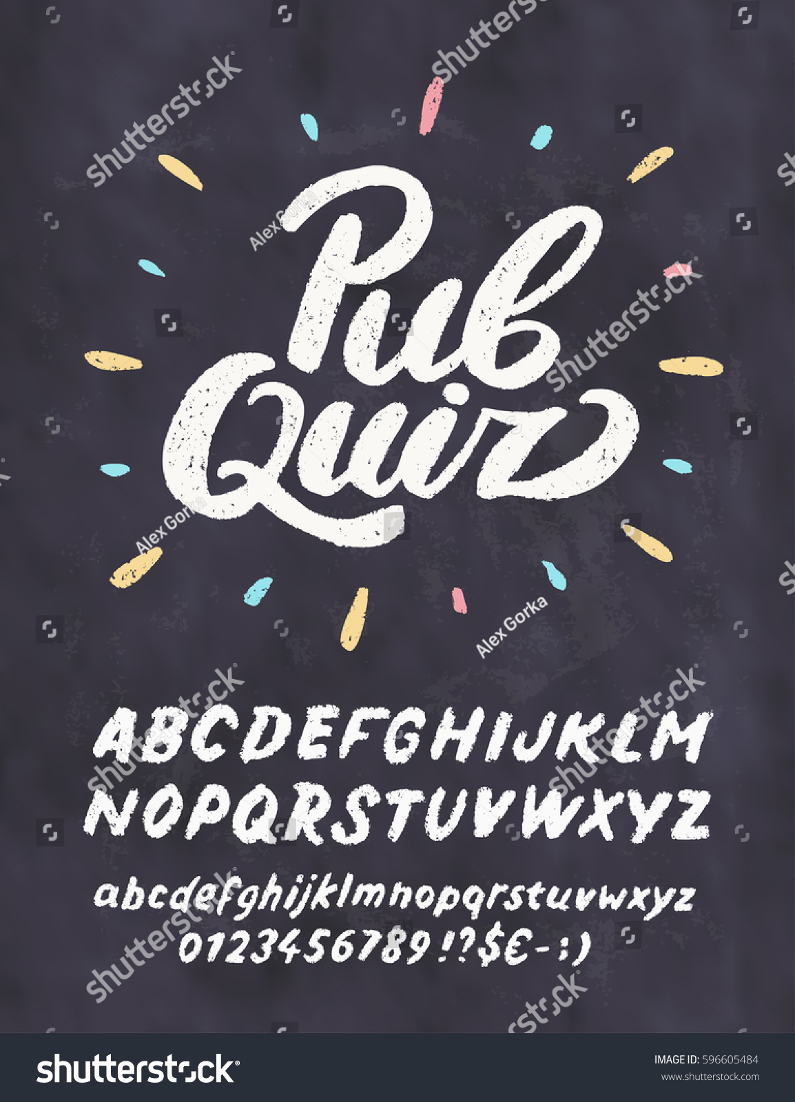 Pub Quiz Chalkboard Sign Template Stock Vector HD Royalty Free - Chalkboard sign template