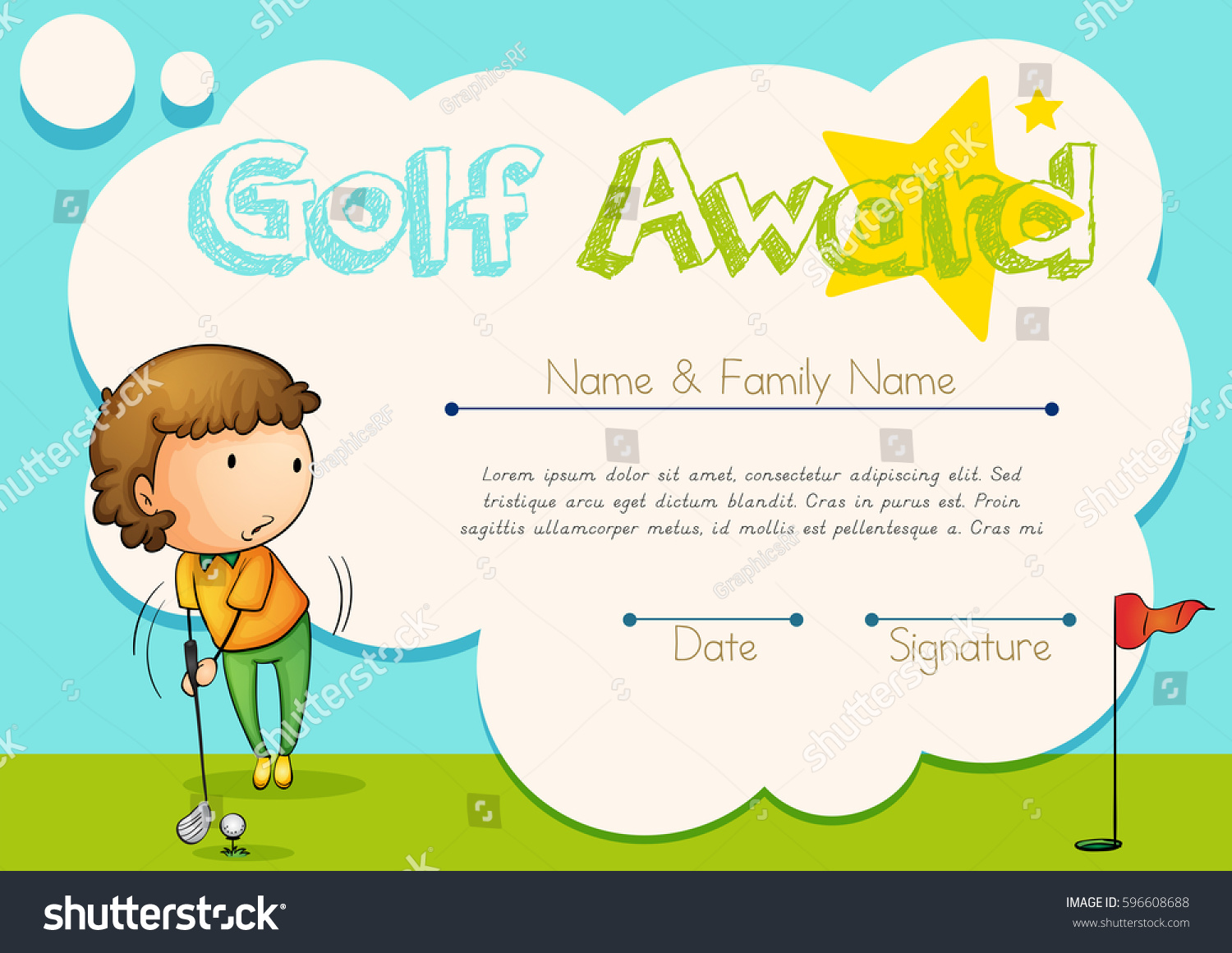 Golf Certificate Templates For Word