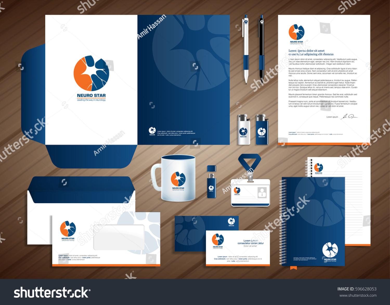 Neurology Star Logo Blue Violet Corporate Stock Vector 596628053