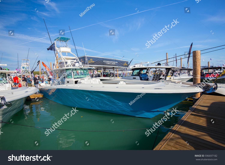 Usa florida miami february 17 2017 stock photo 596697182 - Miami boat show ...