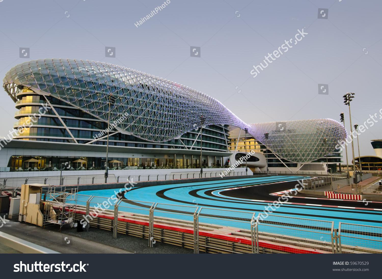 Circuito Yas Marina : Abu dhabi uae april 25 yas foto de stock libre de regalías 59670529