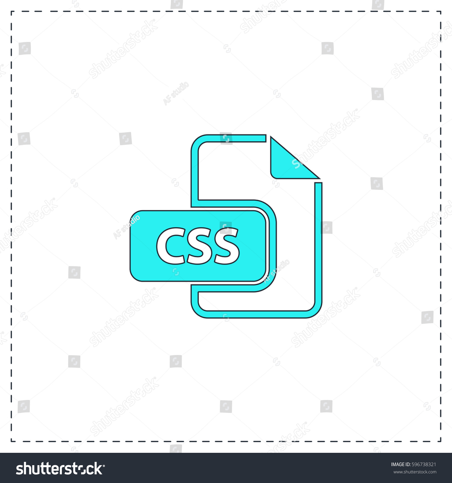 Css Outline Vector Icon Black Editable Stock Vector (Royalty Free