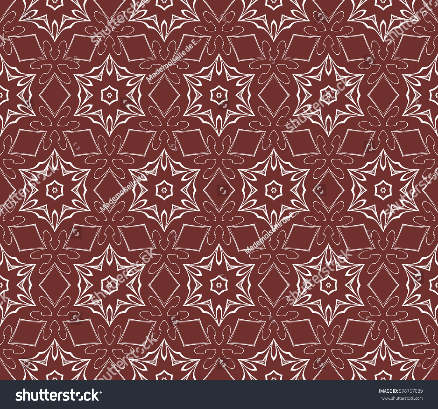 Seamless Floral Pattern Hand Drawn Texture Stock Vector Royalty