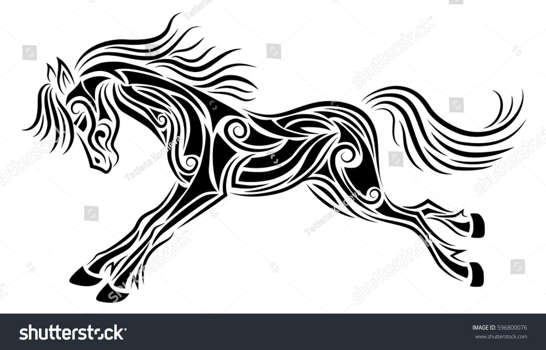 galloping horse tattoo designs. Black Bedroom Furniture Sets. Home Design Ideas