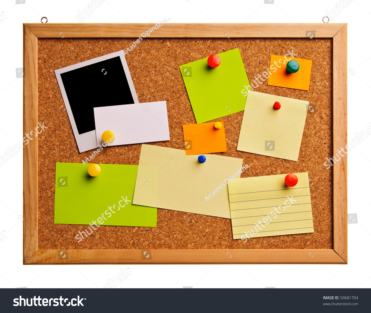 Cork Bulletin Board Notes Business Cards Stock Photo (Edit Now ...