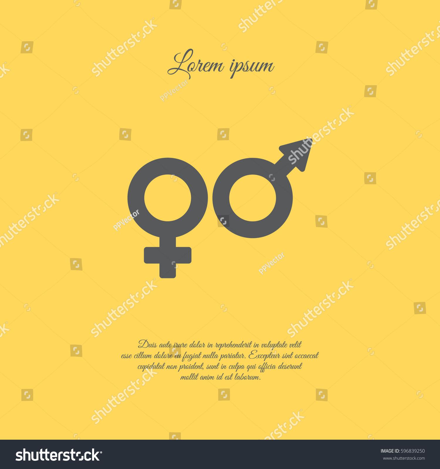 Web Line Icon Gender Symbol Symbols Stock Vector Royalty Free