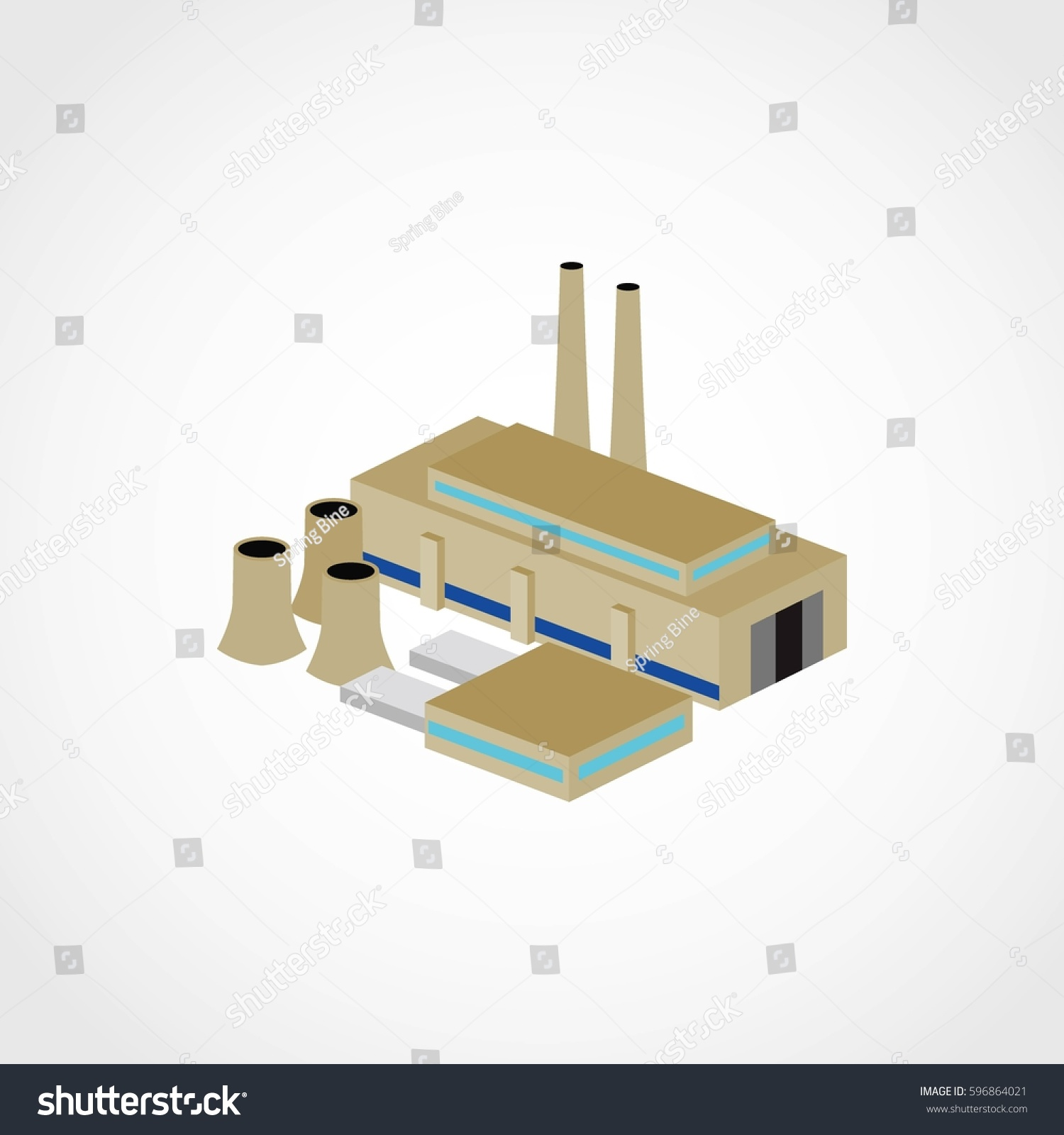 Factory Building 3 D Design Vector Stock Royalty Free Diagram For Wireless Routers 3d