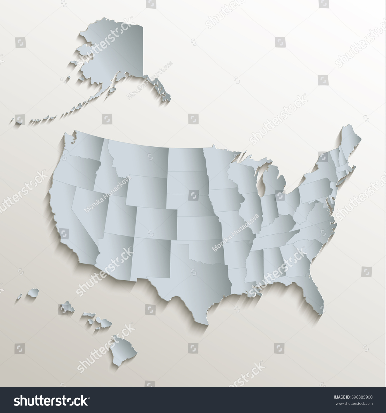 Usa Map Alaska Hawaii Reference Map Of Hawaii Usa Nations Online - Usa map with alaska and hawaii