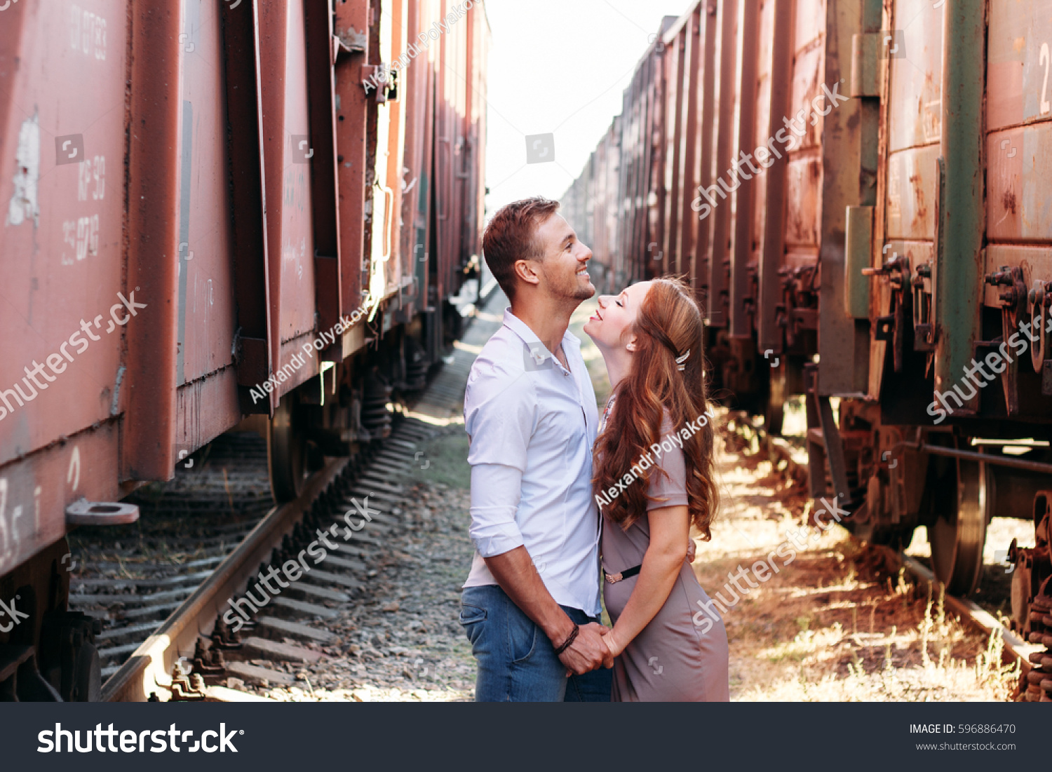 Love Story Models Love Couple Love Stock Photo 596886470