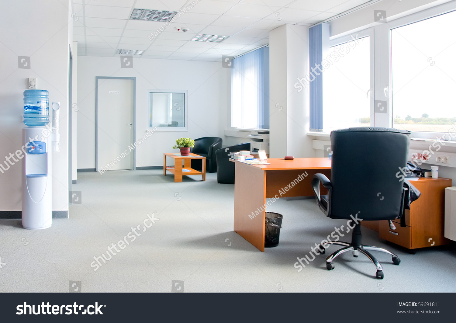 Small simple office interior stock photo 59691811 for Small office interior