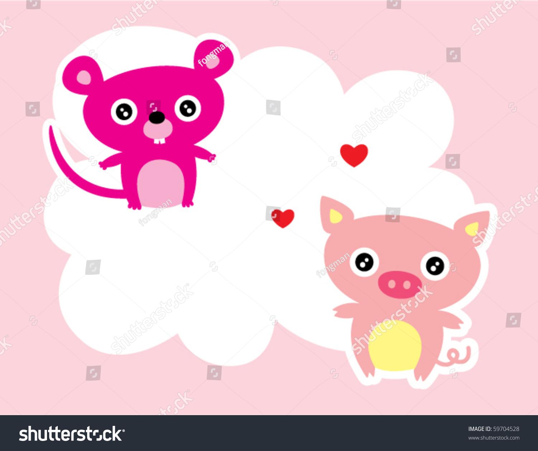 Cute pig love