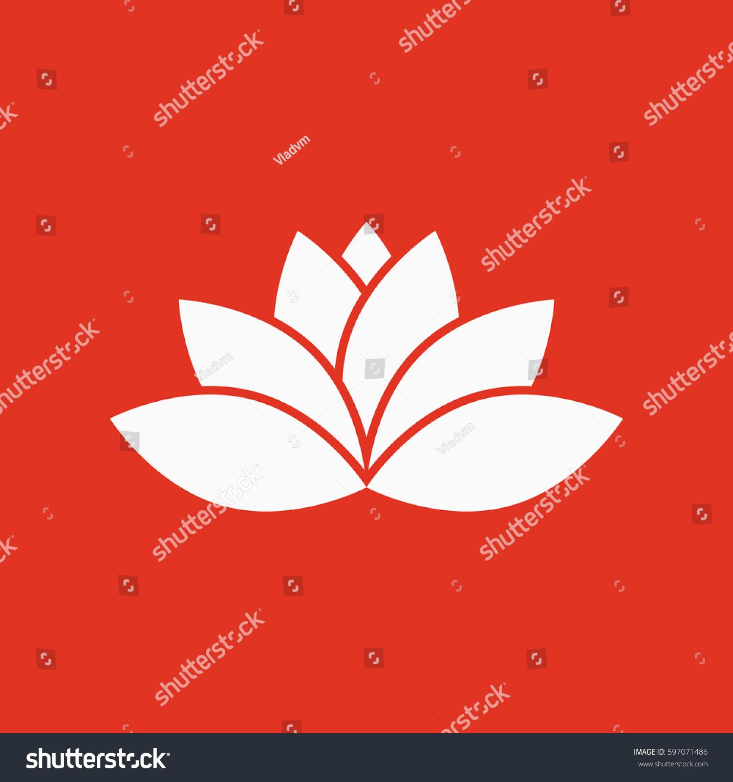 Lotus icon lily flower lifestyle symbol stock illustration 597071486 lily and flower lifestyle symbol flat design stock illustration izmirmasajfo