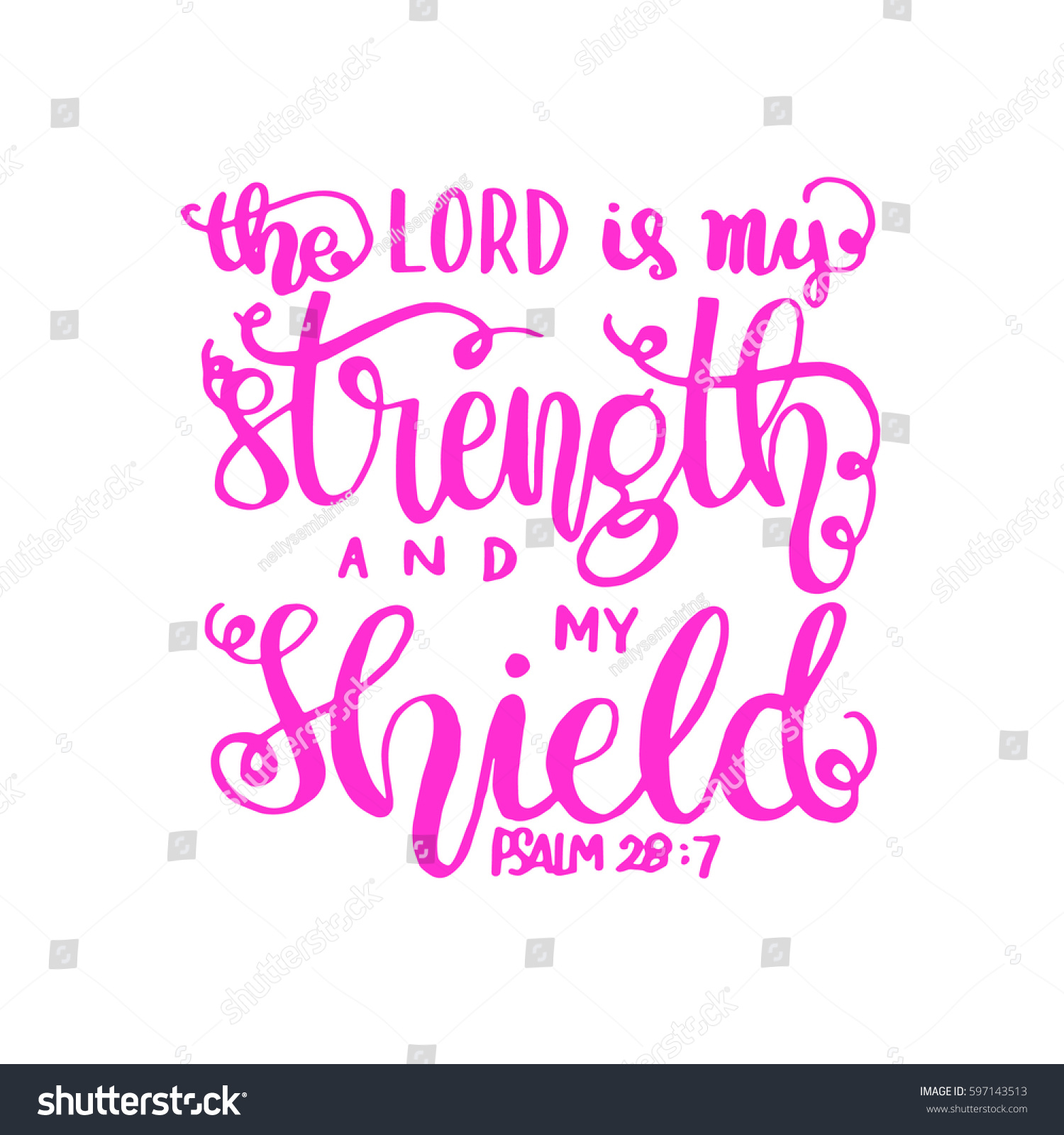 Bible Quotes For Strength Lord My Strength My Shield Bible Stock Vector 597143513  Shutterstock