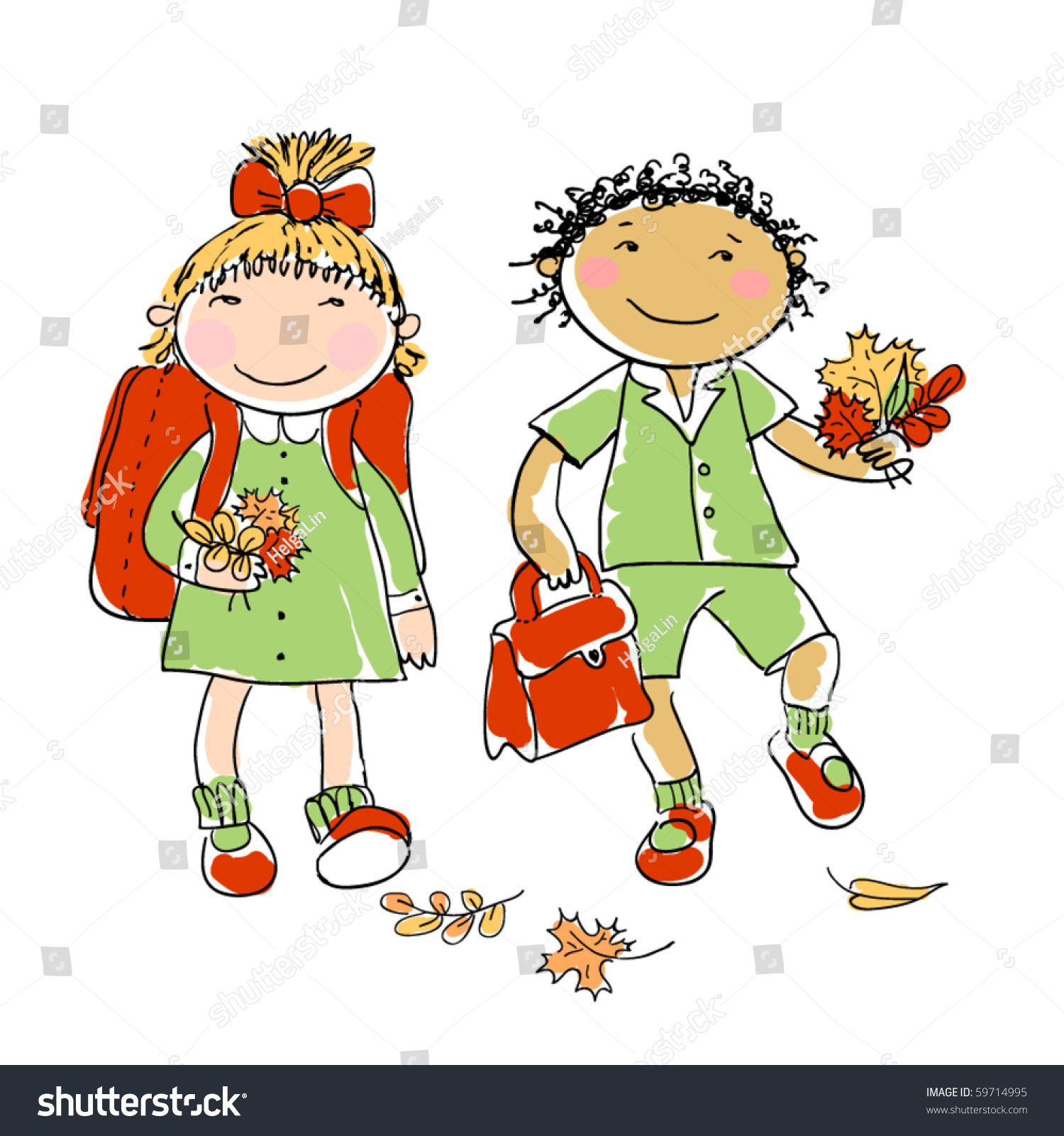 Image result for autumn in school