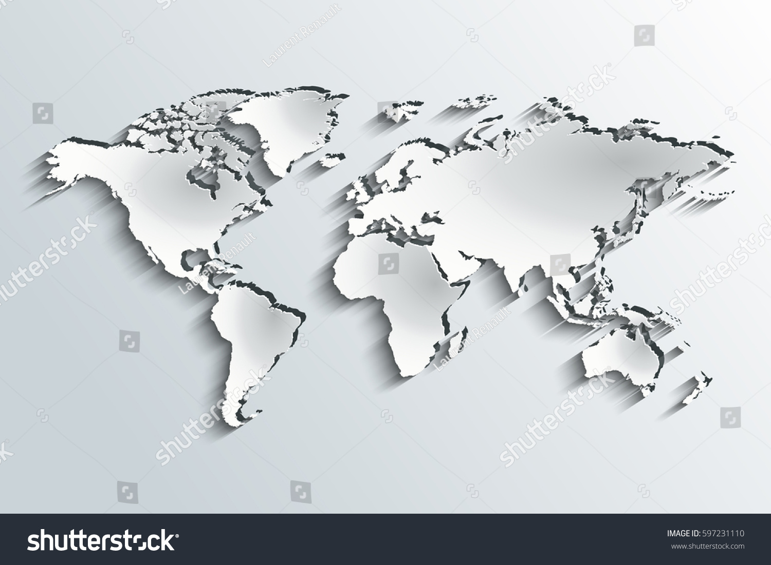 World map embossed peeling paper over stock vector hd royalty free world map embossed in peeling paper over a grey gradient gumiabroncs Gallery