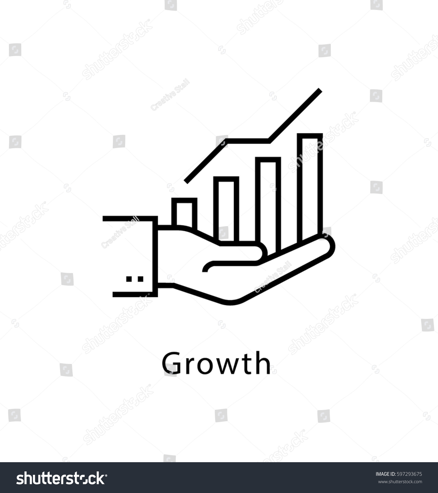 Growth Vector Line Icon