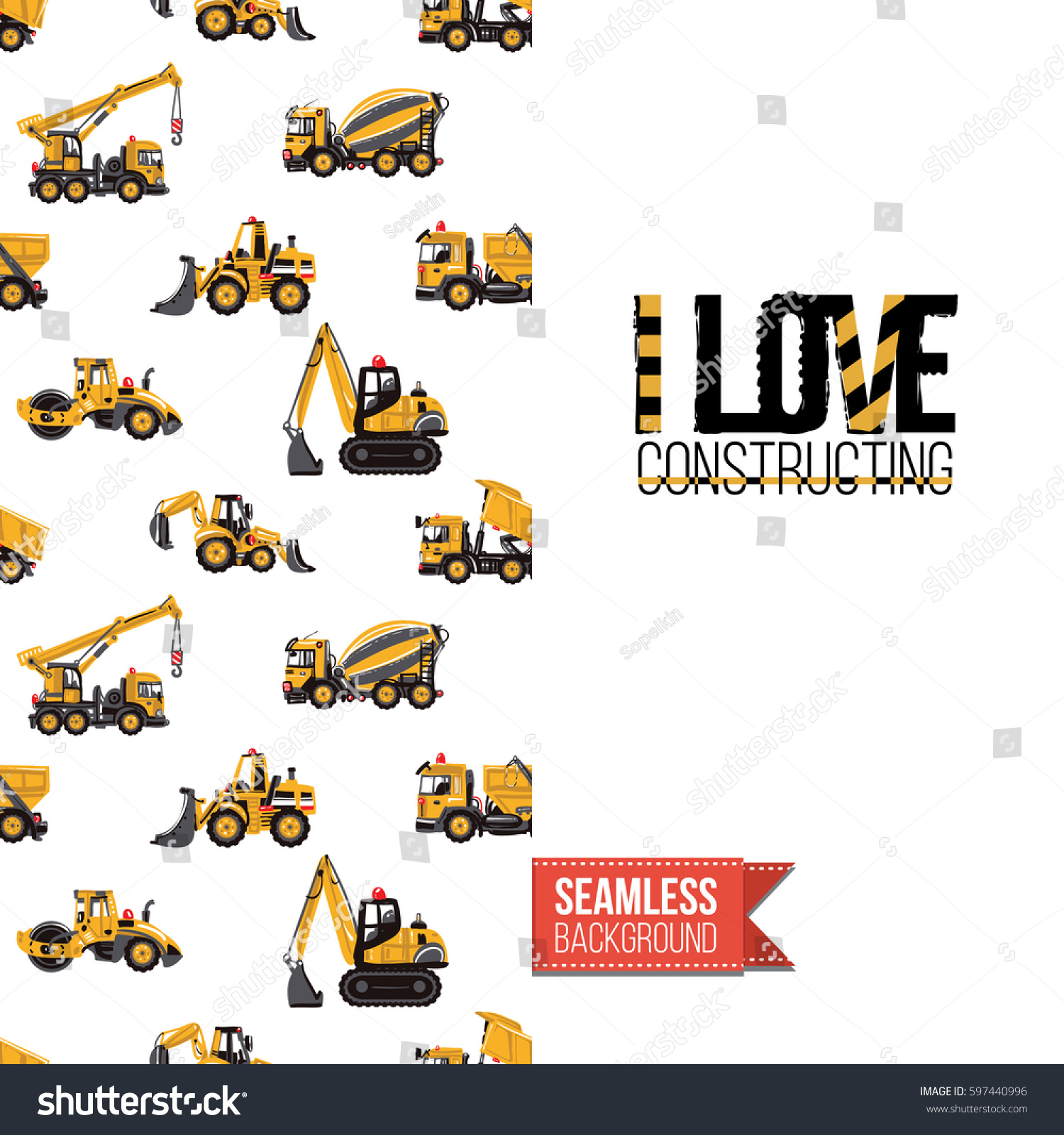 industrial greeting card kids children illustrated stock vector