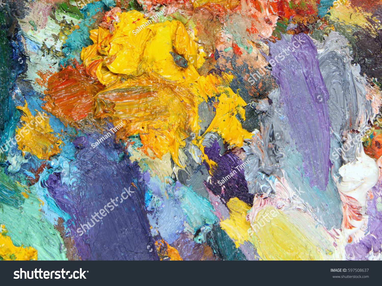 Texture Color Palette Mixed Paints Stock Photo (Edit Now) 597508637 ...