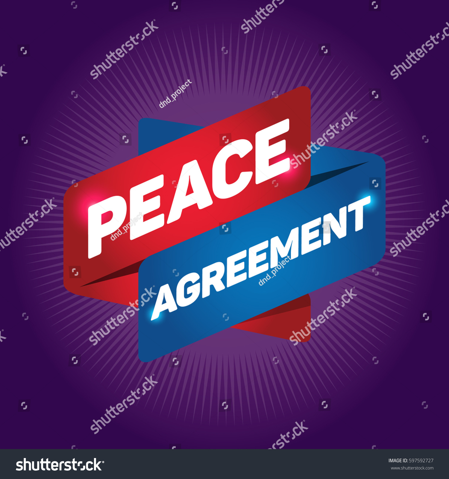 Peace Agreement Arrow Tag Sign Stock Vector 597592727 Shutterstock