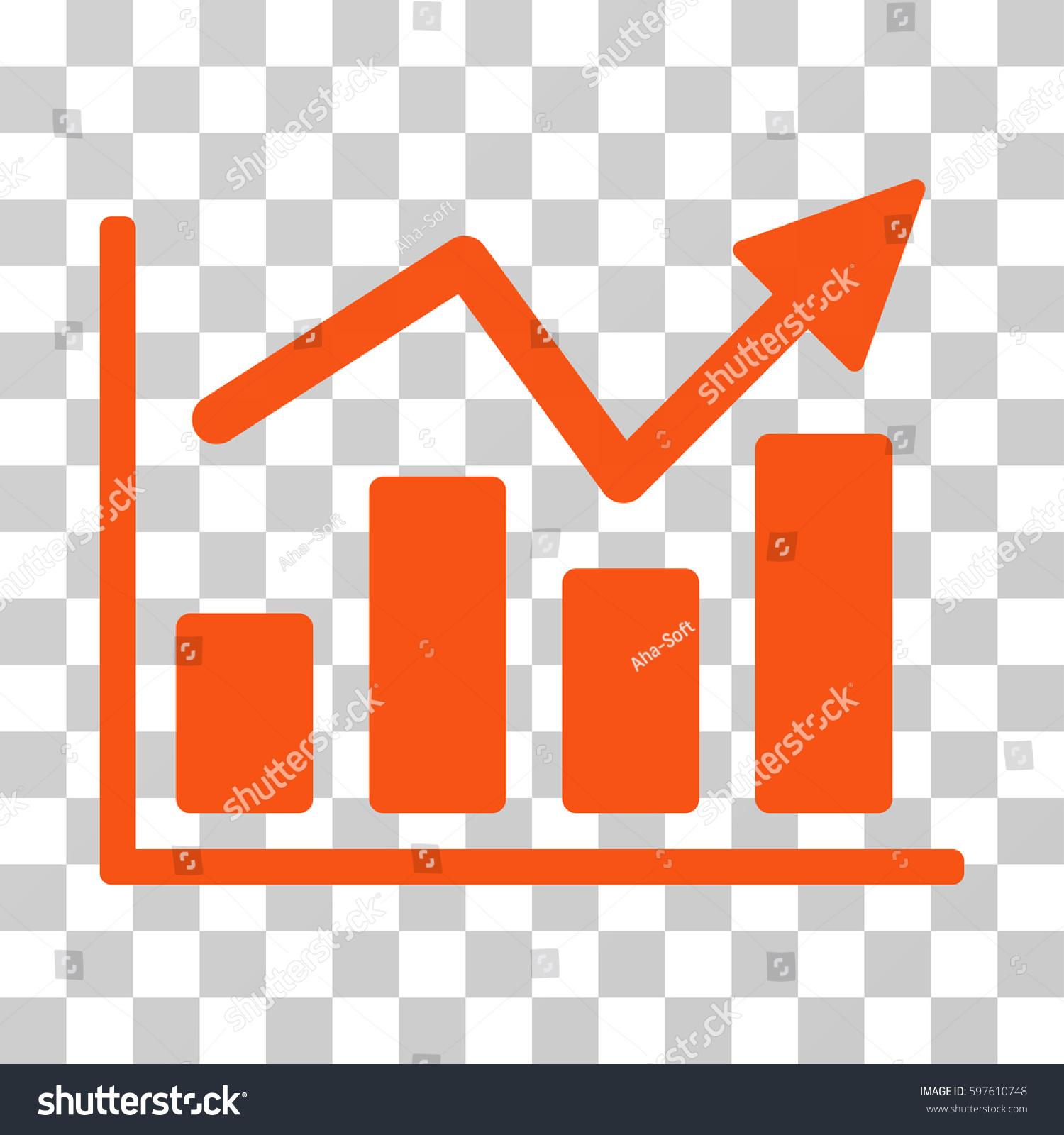 Bar chart trend icon vector illustration stock vector 597610748 bar chart trend icon vector illustration style is flat iconic symbol orange color nvjuhfo Images