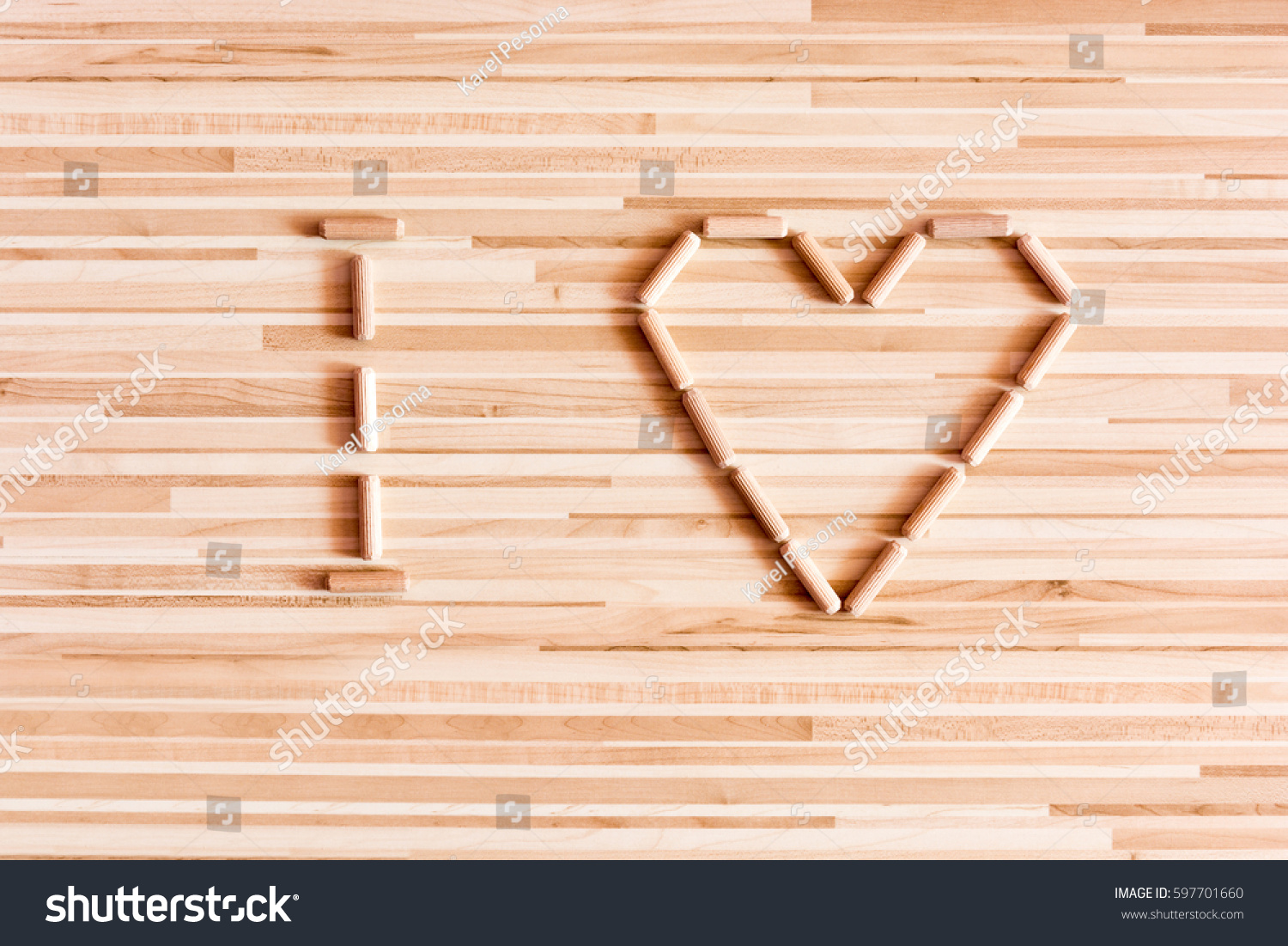 Heart composed wooden dowels on wooden stock photo 597701660 heart composed of wooden dowels on wooden background do it yourself needs home improvement buycottarizona