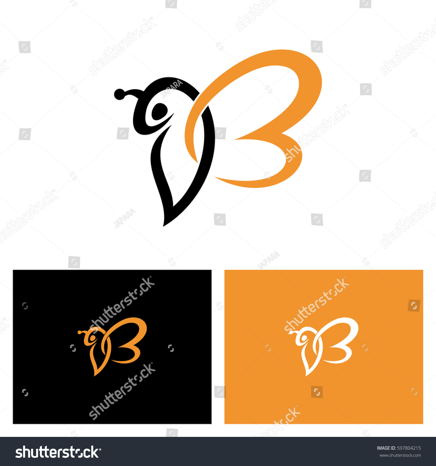 letter b for bee logo