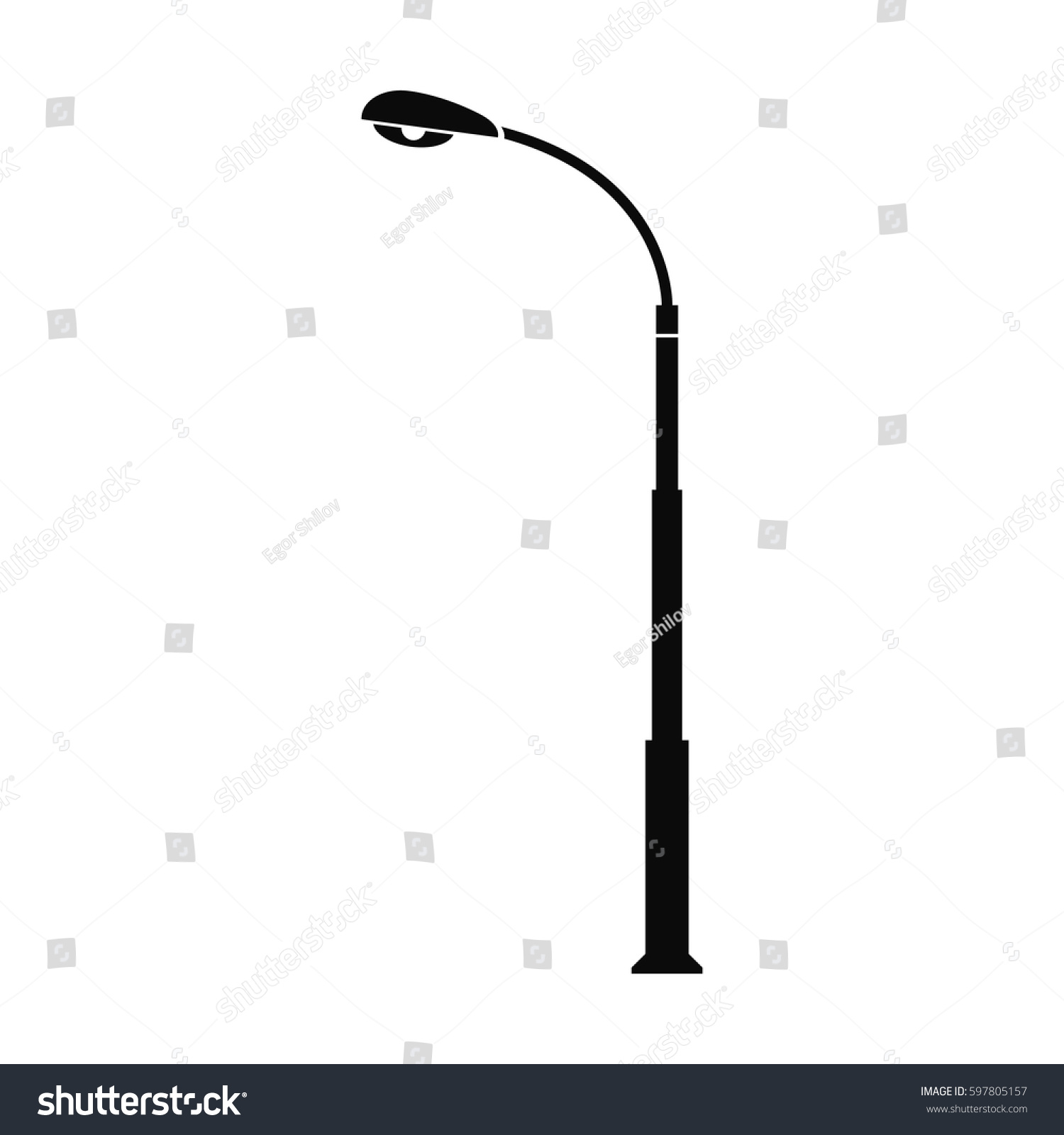 Street Lamppost Vector Illustration Stock Vector 597805157 ... for Street Lamp Post Vector  156eri