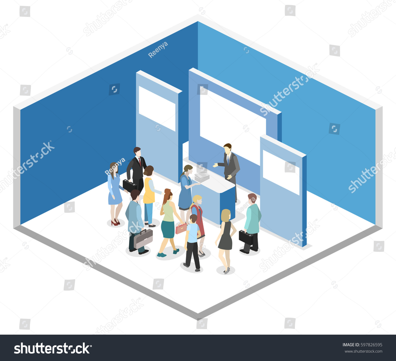 Trade Exhibition Stand Vector : Vector exhibition promotion stand trade show stock