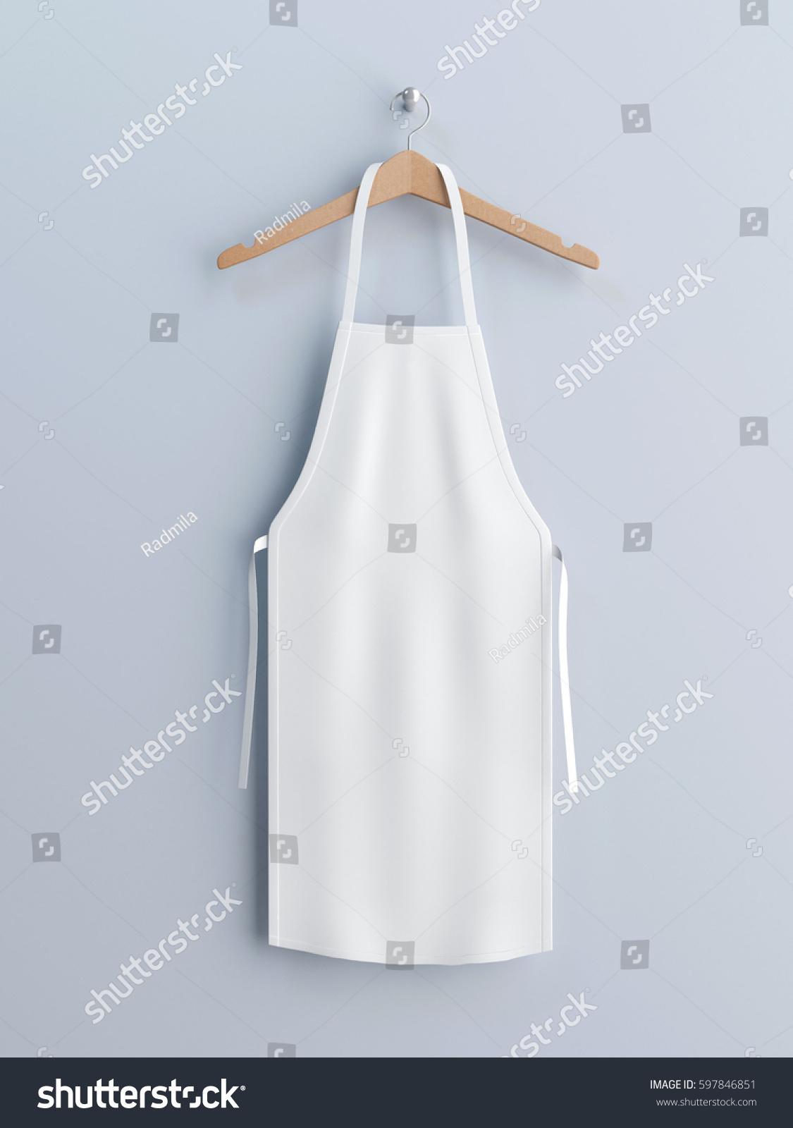 White apron mockup - White Apron Apron Mockup On Clothes Hander 3d Rendering