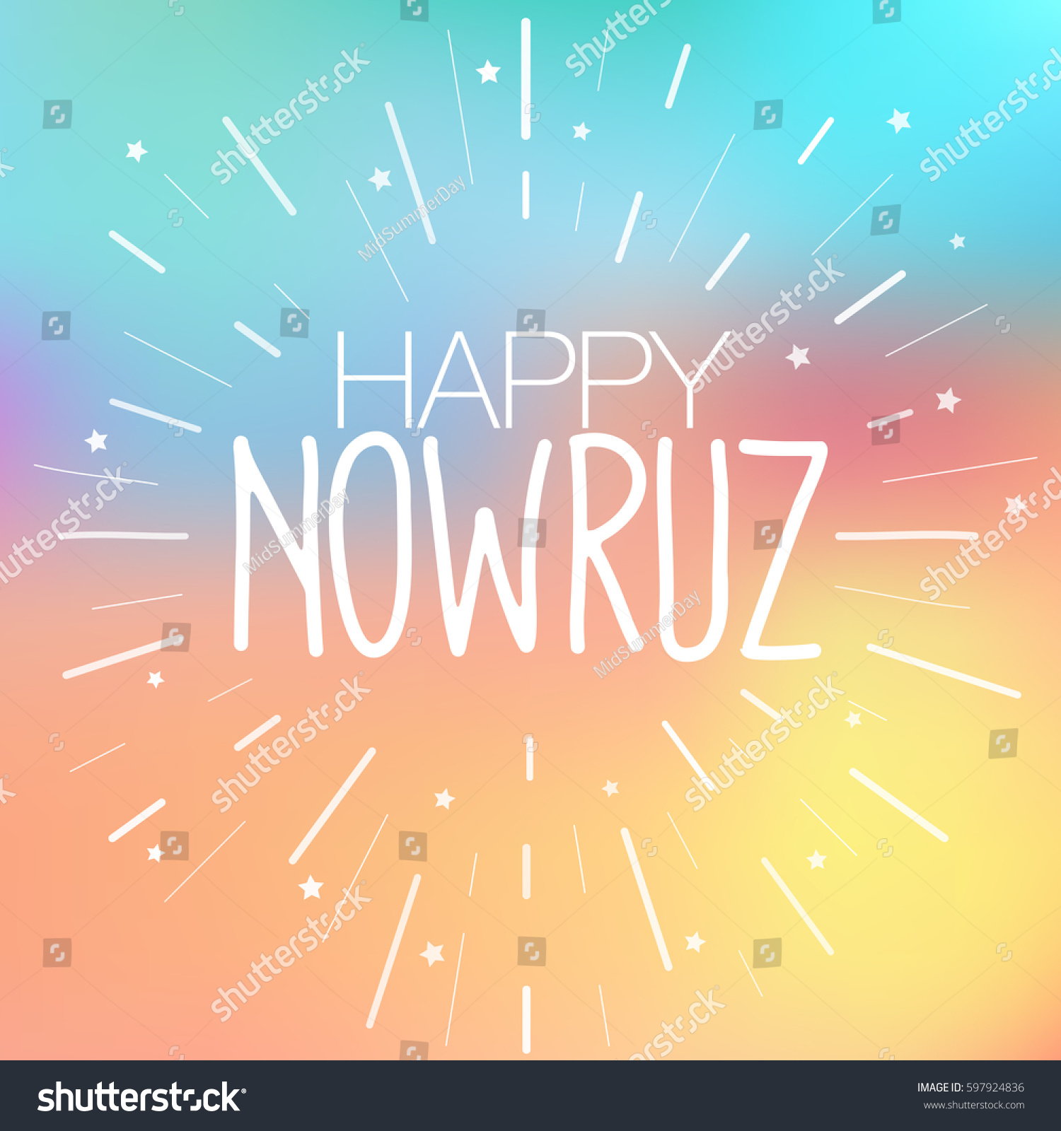 Happy Nowruz Greeting Card Iranian Persian Stock Vector Royalty