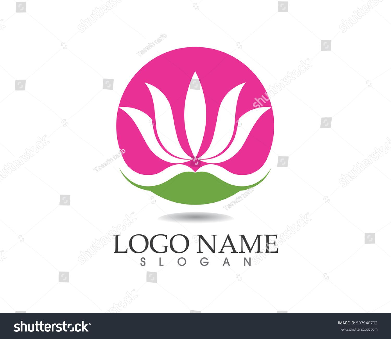 Lotus flower logo ez canvas id 597940703 izmirmasajfo