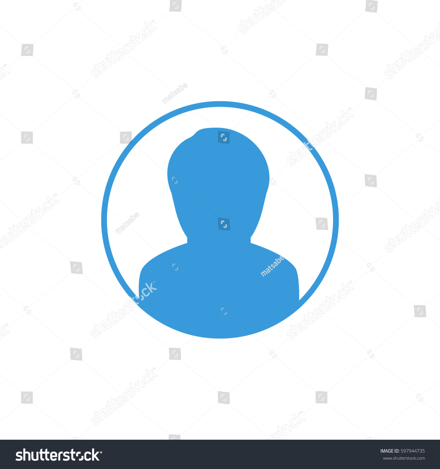 Silhouette Man Circle Icon Stock Vector Royalty Free 597944735