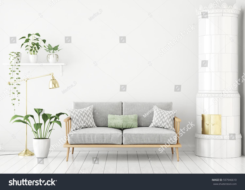 Phenomenal Scandinavian Style Livingroom Fabric Sofa Pillows Stock Dailytribune Chair Design For Home Dailytribuneorg