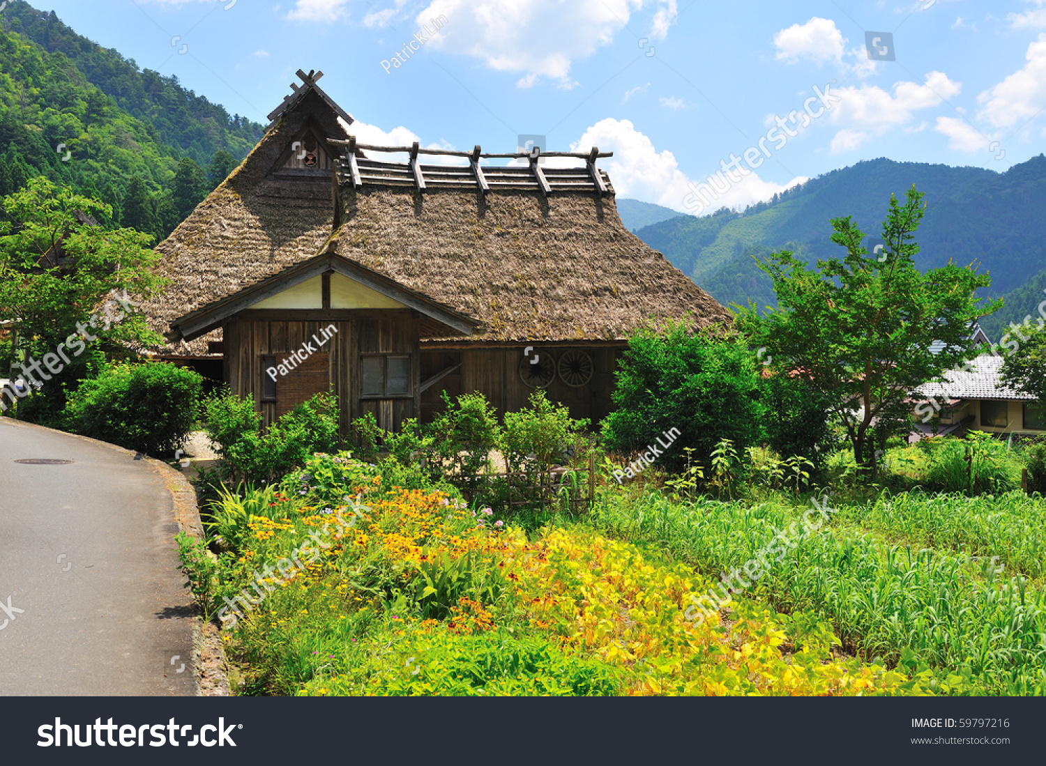 Traditional japanes house vintage roof stock photo 59797216 shutterstock - Traditional houses attic ...