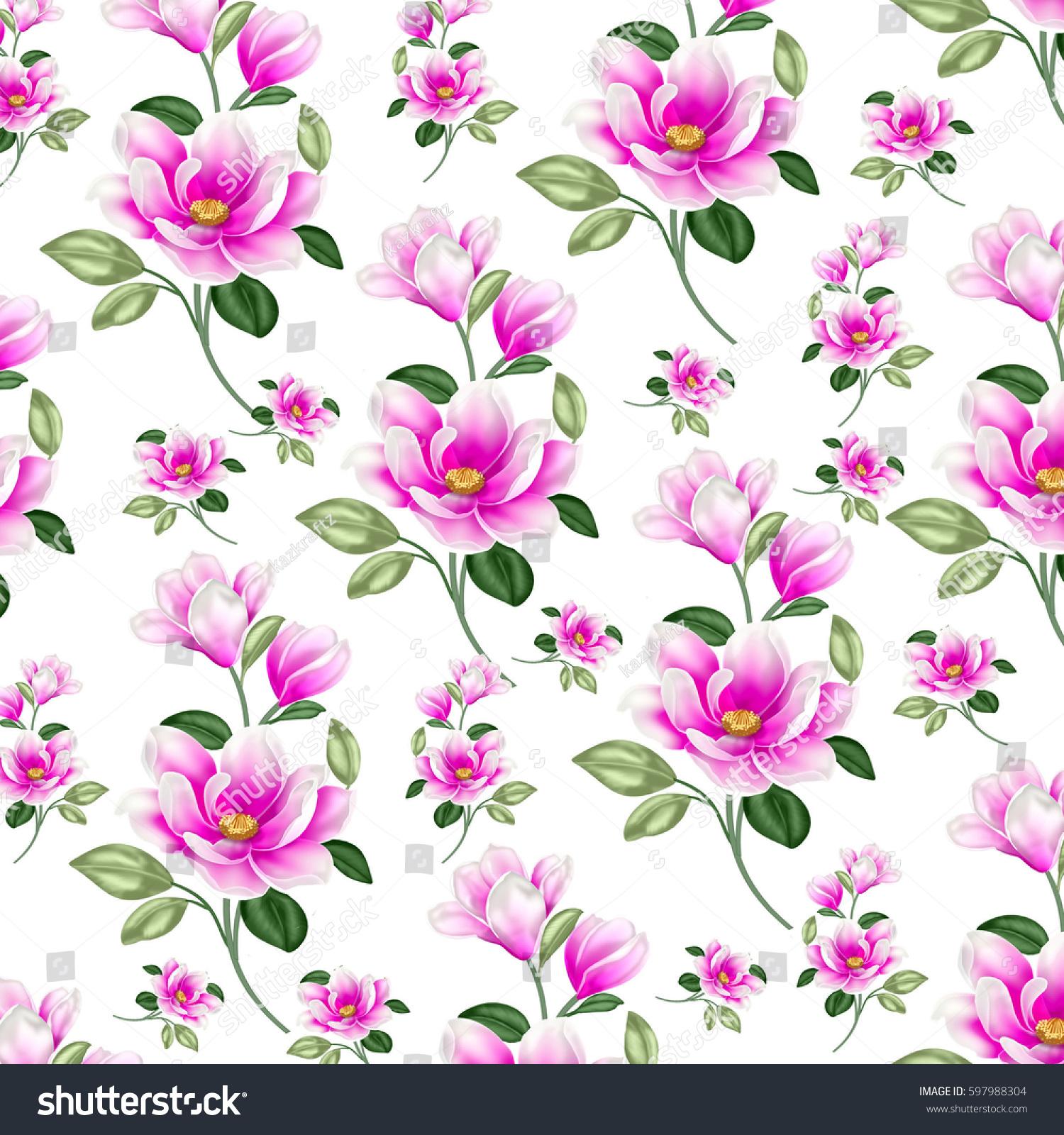 Pretty Floral Print Paper Stock Illustration 597988304 Shutterstock